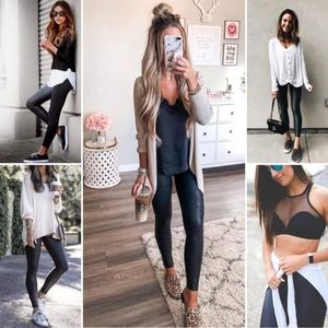 Faux Leather Workout Leggings
